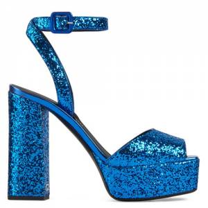 "Giuseppe Zanotti Platform Sandals ""Blue New Betty"""