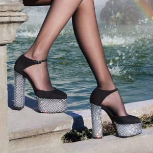 """Giuseppe Zanotti Platforms """"Crystal Bebe"""""""