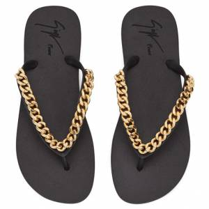 "Giuseppe Zanotti Women's Sandals ""FLORIDA"" Chain Flip-Flops"