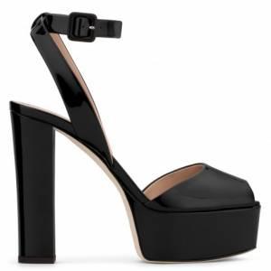 "Giuseppe Zanotti Women's Sandals ""BETTY"" Black Platforms"