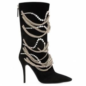 "Giuseppe Zanotti Women's Boots ""SHEENA"" Chains & Crystals"