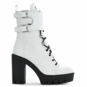 "Giuseppe Zanotti Boots ""CAMILA"" Women's White Platforms"
