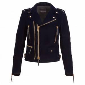 Giuseppe Zanotti - ZIGGY - Women's Dark Blue Velvet Jacket