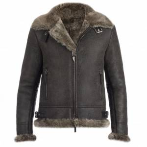 Giuseppe Zanotti - ROBIN - Brown Ram Men's Jacket With Fur Inserts