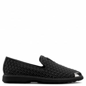Giuseppe Zanotti Loafers CEDRIC MANHATTAN Black 3D Printed Leather Men's Shoes