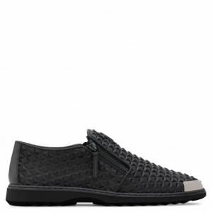 Giuseppe Zanotti Loafers COOPER MANHATTAN Black 3D Printed Men's Shoes