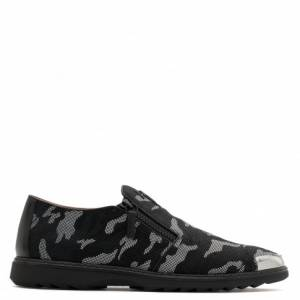 Giuseppe Zanotti Loafers COOPER Grey Camouflage Slipon Men's Shoes