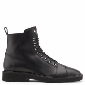 Giuseppe Zanotti Men Boots CHRIS LOW Black Biker