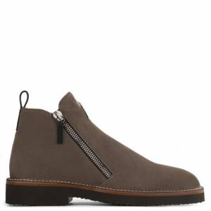 Giuseppe Zanotti Boots AUSTIN Brown Suede Men's Shoes