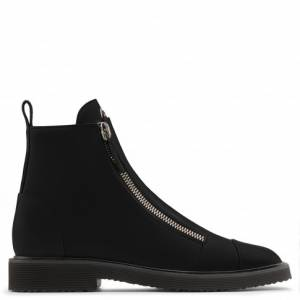 Giuseppe Zanotti Boots JEROME Black Leather Men's Shoes