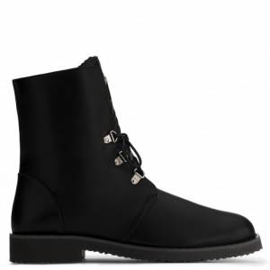 Giuseppe Zanotti Boots FORTUNE Black Biker Men's Shoes