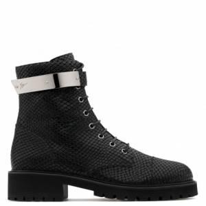 "Giuseppe Zanotti Men's Ankle Boots ""HARVEY"" Biker"