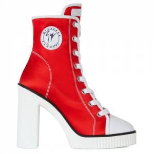 "Giuseppe Zanotti Women's Platform Heel Sneaker Boots ""Red Nidir"""