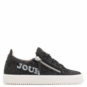 """Giuseppe Zanotti Women's Sneakers """"BONJOUR NUIT"""" Black Glitter"""