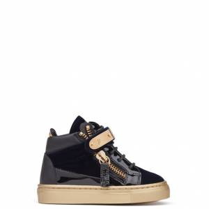 Giuseppe Zanotti Baby Shoes - COBY - Kids Blue Sneakers