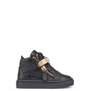 Giuseppe Zanotti Baby Shoes - NICKI - Kids Black Sneakers