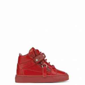 Giuseppe Zanotti Baby Shoes - TAYLOR - Kids Red Sneakers