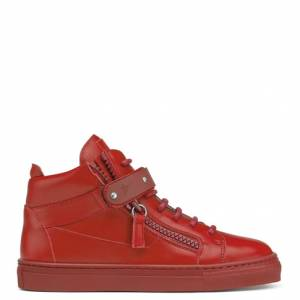 Giuseppe Zanotti Teen - TAYLOR - Kids Red Leather Sneakers