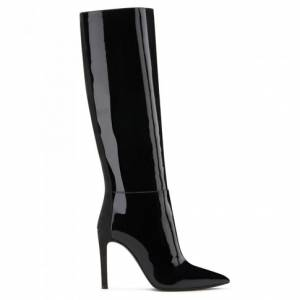 Giuseppe Zanotti - ALBA - Black Leather Women's High-Top Boots