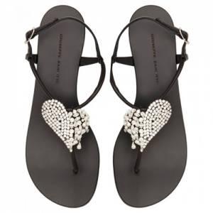 """Giuseppe Zanotti Flat Sandals """"Amour"""""""