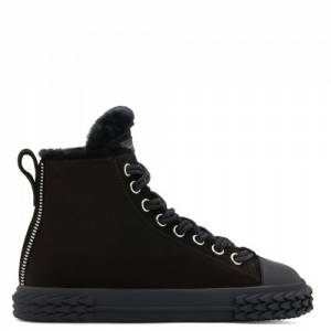 Giuseppe Zanotti - BLABBER - Black Mid-Top Men's Suede Sneakers