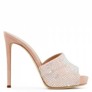 "Giuseppe Zanotti Sandals ""Pink Isidora Mules"" Heels"