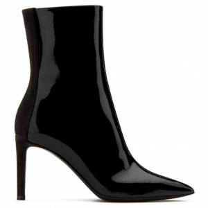 Giuseppe Zanotti - MINOU - Black Leather Women's Mid-Top Boots