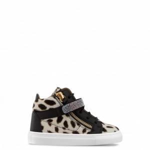 Giuseppe Zanotti Kids - JONAS - Leopard Print Calfhair Baby's Sneaker