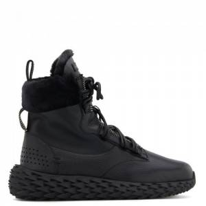 "Giuseppe Zanotti Men's High-Top Sneakers ""Black Urchin"""