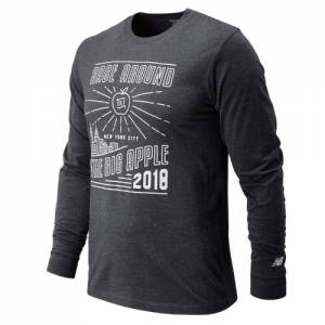 New Balance Men's United NYC Half Race Big Apple Long Sleeve - (MT81610C)