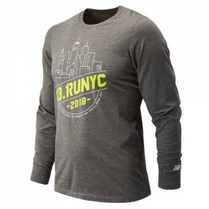 New Balance Men's United Airlines NYC Half Tour NYC Long Sleeve - (MT81612C)