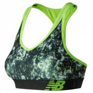 New Balance Women's White Tie Dye NB Pace Sports Bra - (WB71035-WTD)