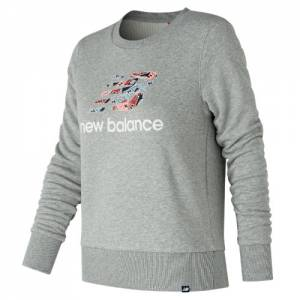 New Balance Women's Essentials Shoe Crew Sweatshirt - (WT81570)