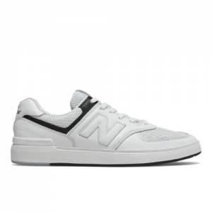 New Balance All Coasts 574 Men's Court Classics Shoes - White (AM574PWG)