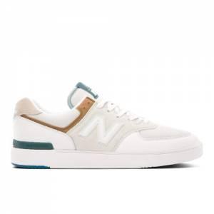 New Balance AM574V1 Men's Lifestyle Shoes - White (AM574WWN)
