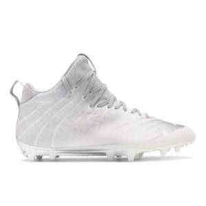 New Balance BurnX2 Mid Men's Lacrosse Shoes - White (BURNXMGR)