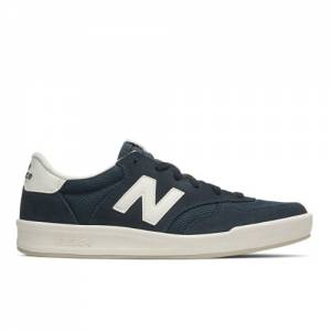 New Balance 300 Suede Men's Court Classics Shoes - Navy / Green (CRT300CF)