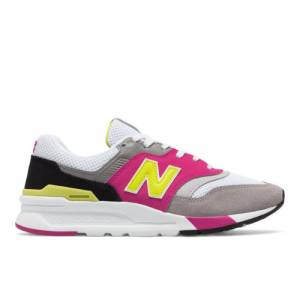 New Balance 997H Women's Running Classics Shoes - White / Pink (CW997HNX)
