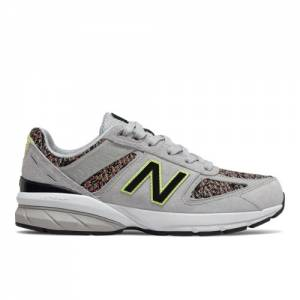 New Balance 990v5 Kids Grade School Lifestyle Shoes - Grey (GC990AB5)