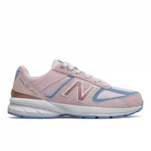 New Balance 990v5 Kids Lifestyle Shoes - Pink / Blue (GC990MP5)