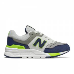 New Balance 997H Kids Lifestyle Shoes - Blue / Green (GR997HCJ)