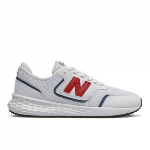 New Balance X70 Kids Lifestyle Shoes - White (GSX70SEB)