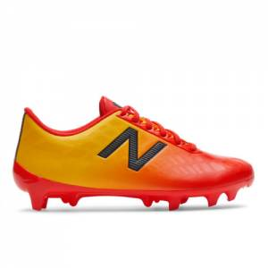 New Balance Junior Furon v4 Dispatch FG Kids Soccer Shoes - Red Flame (JSFDFFA4)