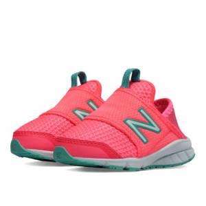 New Balance 150 Slip On Kids Infant Running Shoes - Pink / Green (K150SPGI)