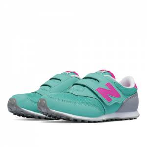 New Balance 620 Hook and Loop Kids Pre-School Lifestyle Shoes - Blue / Pink (K620APP)