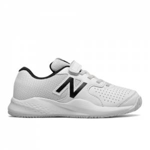 New Balance 696v3 Kids Tennis Shoes - White (KC696WT3)