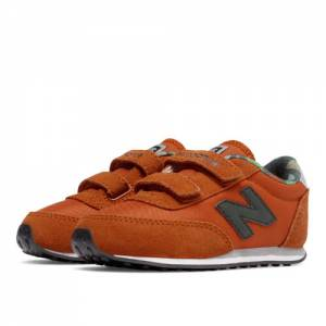 New Balance 410 Hook and Loop Kids Infant Lifestyle Shoes - Orange (KE410Z2I)