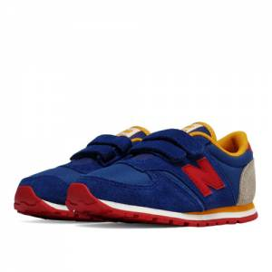New Balance 420 Hook and Loop Kids Infant Lifestyle Shoes - Blue / Red (KE420LRI)