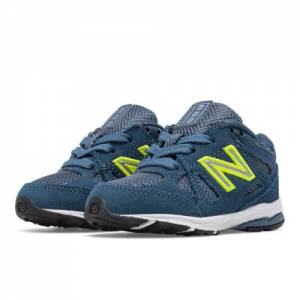 New Balance 888 Kids Infant Running Shoes - Navy / Yellow (KJ888BOI)