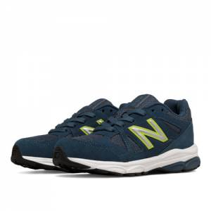 New Balance 888 Kids Pre-School Running Shoes - Navy / Yellow (KJ888BOP)